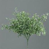 Brynxz - Gingko-Bush Frosted-Flocked - Kunstplant - Lengte ca. 25 cm