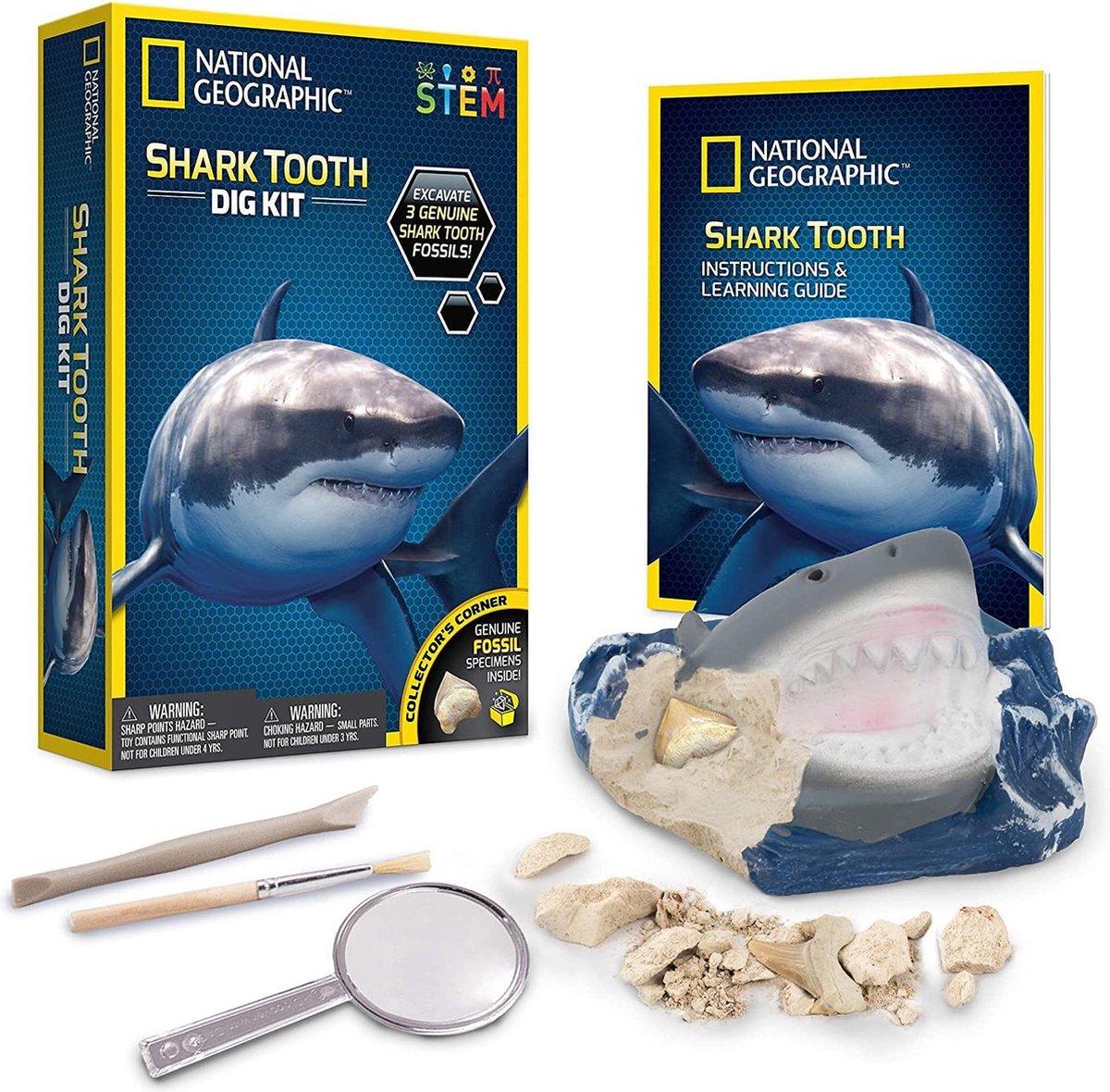 National Geographic - Shark Teeth Dig Kit - Experimenteerset