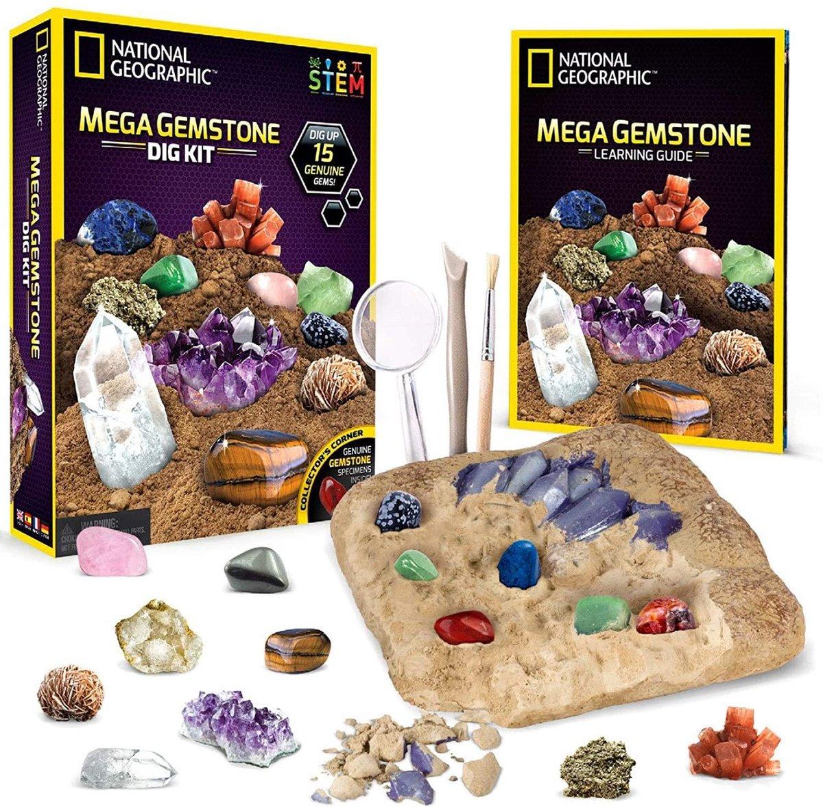 National Geographic - Ultimate Gemstone Dig Kit - Experimenteerset
