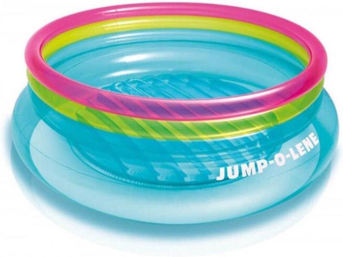 Intex Jump-o-lene springkussen/zwembad - 203cm diameter x 69cm hoog