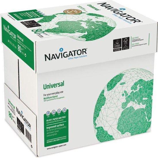 Kopieerpapier Navigator Universal A4 80 gram 1 doos met 5 pakken á 500 vellen