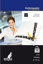 Afbeelding van Carbonpapier Kangaro A4 21x31 - 10 vel zwart speelgoed