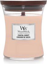 Woodwick Hourglass Medium Geurkaars - Coastal Sunset