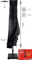 Parasolhoes staande parasol met Stok en Rits 230x30/57 cm. Beschermhoes Parasol / Afdekhoes Parasol met rits en stok Zwart 230 x 30/57cm