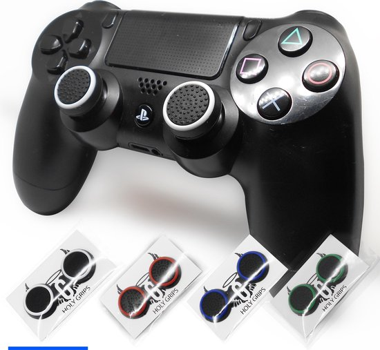Holy grips – Joystick thumbgrips – Xbox One / Series X S – Playstation PS4 PS5 – Wit Zwart
