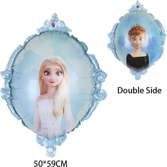 Elsa Frozen Disney,Helium Ballonnen Met Rietje ,Verjaardag Decoratie .Elsa Frozen Ballon,Dubbelzijdige Ballon,50x59 & Straw