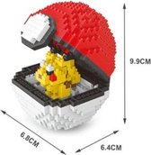 Pikachu Pokeball / blocks - Pokemon - 397 Stuks Pikachu Pokeball - Mini Bouwstenen - 3D Puzzel - Nano block