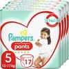 Pampers Premium Protection Pants Luierbroekjes - Maat 5 (12-17 kg) - 68 stuks - Maandbox