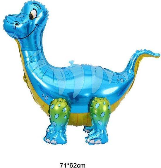 Dinosaurus ballon - blauwe dino - XL ballon - 71x62cm - folieballon - stoere dino ballon - heliumballon -luchtballon  - kinderfeest - voor jongens en meisjes