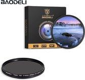 Baodeli 58mm variabele ND fader ND2-ND400 filter grijsfilter