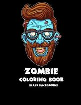 Zombie coloring book: Black Background