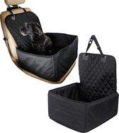 Auto hondenzitje / mand veiligheidsriem - 50cm x 45cm - zwart