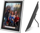 Kiki&Co Randloos glas digitale fotolijst - fotokader - 10.1 inch - Frameo app - FullHD touchscreen - WiFi