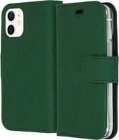 Wallet Softcase iPhone 12 mini – hoogwaardig leren bookcase groen - bookcase iPhone 12 mini groen - Booktype voor iPhone groen