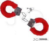 Handboeien - Imitatiebont - Met 2 Sleutels - Metaal - Rood