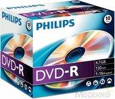 Philips - DVD-R - DVD-R 10pcs. Jewelcase