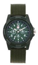 Stoer jongens-/herenhorloge Swiss Army groen I-deLuxe verpakking