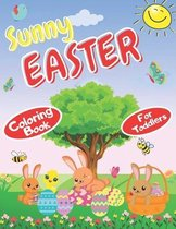 Sunny Easter Coloring Book for toddlers