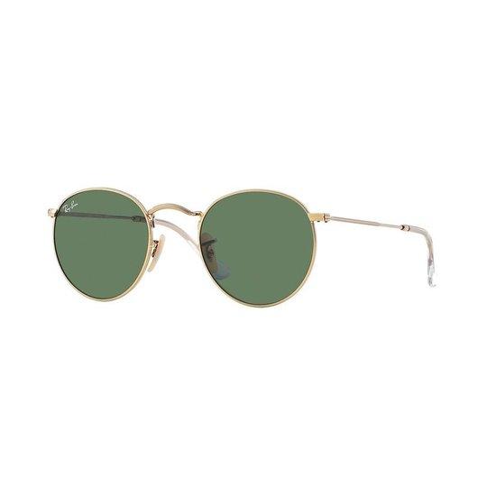 Ray-Ban zonnebril Round, 3447 001 maat 50, goudkleurig, G-15 glazen