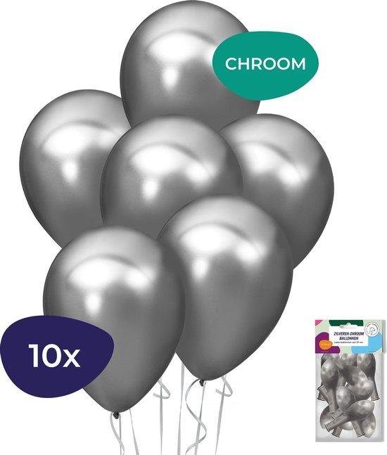 Zilveren Ballonnen – Chrome Ballonnen – Helium Ballonnen – Sweet 16 Versiering – Verjaardag Versiering – 10 Stuks