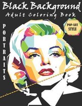 Black Background Adult Coloring Book: The Hidden Charm Coloring Book Black Background