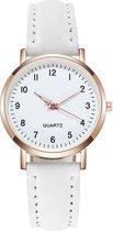 Doukou White Horloge | Suedine - Kunstleer | Wit | Ø 32,5 mm