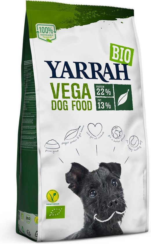 Yarrah Hond Droogvoer Vegetarisch - 10 kg