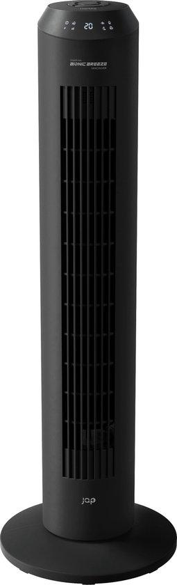 JAP Vancouver - Stille torenventilator - Ionic luchtverfrisser - Toren ventilator staand - Timer - Afstandsbediening – Mat zwart