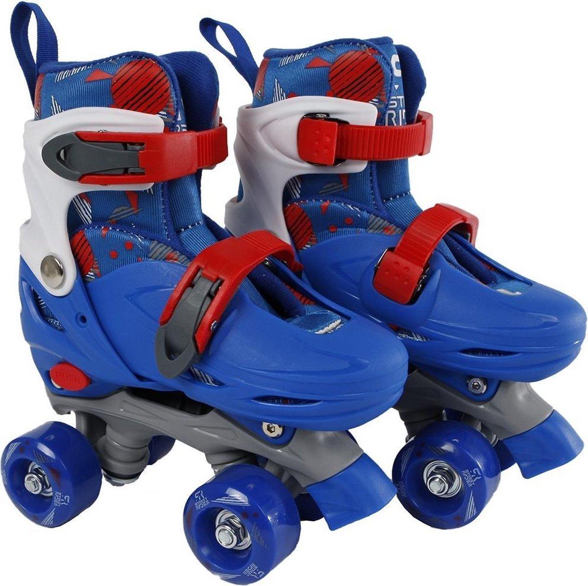 Rolschaatsen Street Rider blauw/grijs maat 27-30