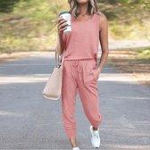Dames huispak / Loungewear/ Homewear/ Vrijetijdspak. Malibu. maat L , kleur roze