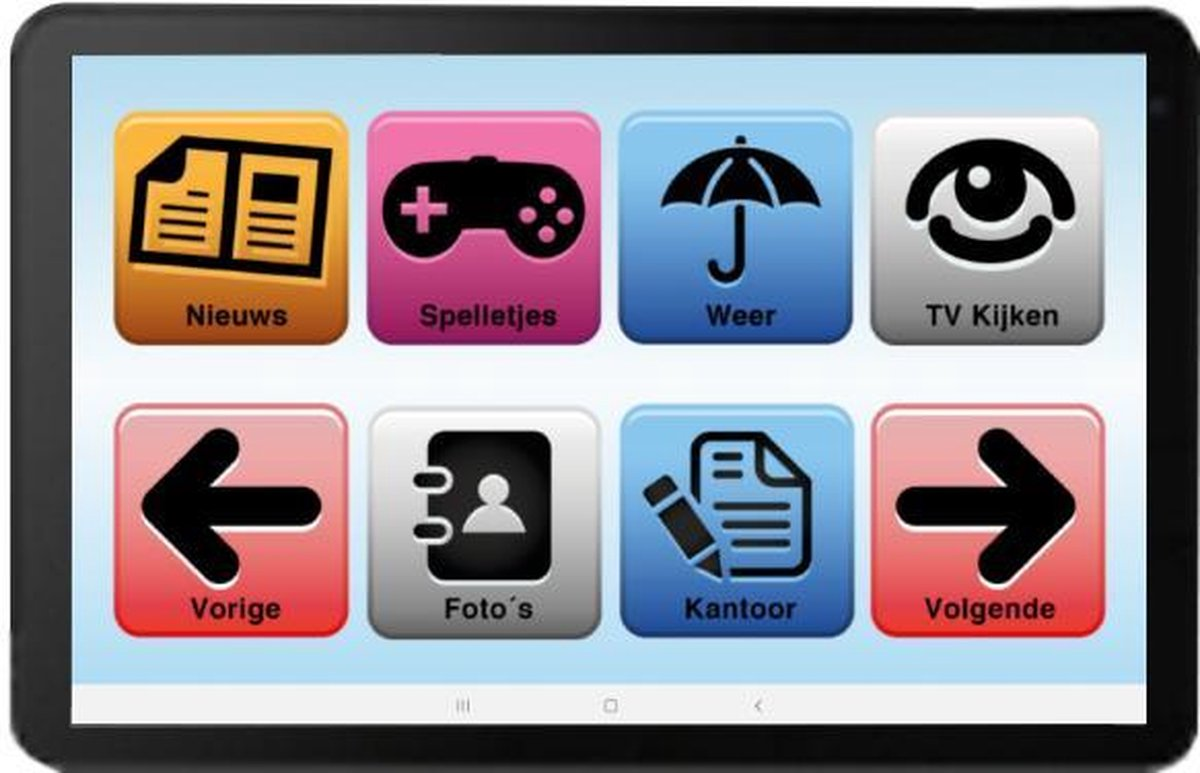 Senioren Tablet 32GB Wifi Vlaamse Versie (De officiële SeniorenTab op basis van een Archos Tablet)