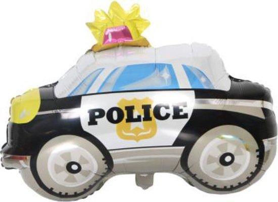 Politieauto ballon - 65x74cm - Folie ballon - Helium - Leeg - Politie - Ballonnen - Auto - Car - Auto ballon - Versiering - Thema feest - Verjaardag