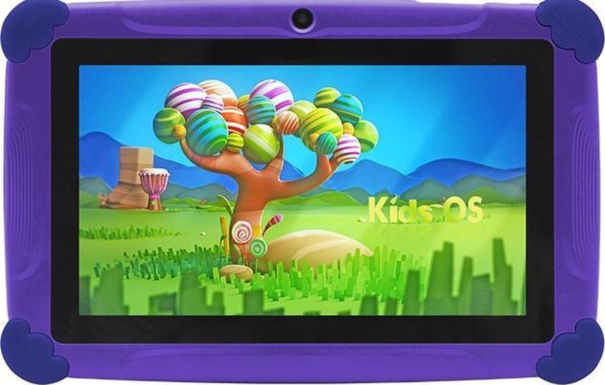 Kindertablet Pro Paars - Tablet 7 inch - 32 GB opslag - Kinder tablet - kindertablet vanaf 3 jaar - tablets kinderen - kids tablet - Scherp HD beeld - leerzame voor kinderen - Wifi Bluetooth - voor-achter camera - Play store - uitstekende batterij