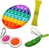 Pop it Fidget toys pakket set - Pop it - Pop All Up® - 4 Delig
