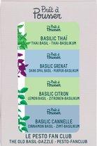 PACK: Basil (Dark opal basil, Thai basil, Lemon basil, Cinnamon basil) - compatible met een Prêt à Pousser