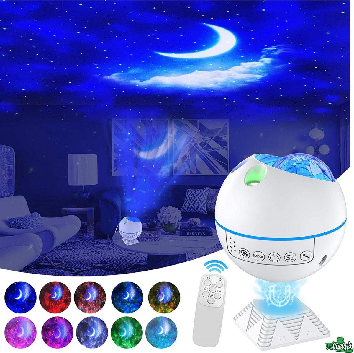 3 in 1 Sterren Projector - Galaxy Projector - 2021 Model - Star Projector - Sterrenhemel Projector - LED Lamp - Nachtlamp - Wit