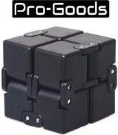 Pro-Goods - Infinity cube zwart – Fidget cube – Fidget toy – Fidget toys – Fidgets - speelgoed jongens – speelgoed meisjes - Anti stress – Pop it – Cadeau – Fidget pad – Friemel kubus – Tiktok – Fidget spinner – Fidget gadget – Magic cube