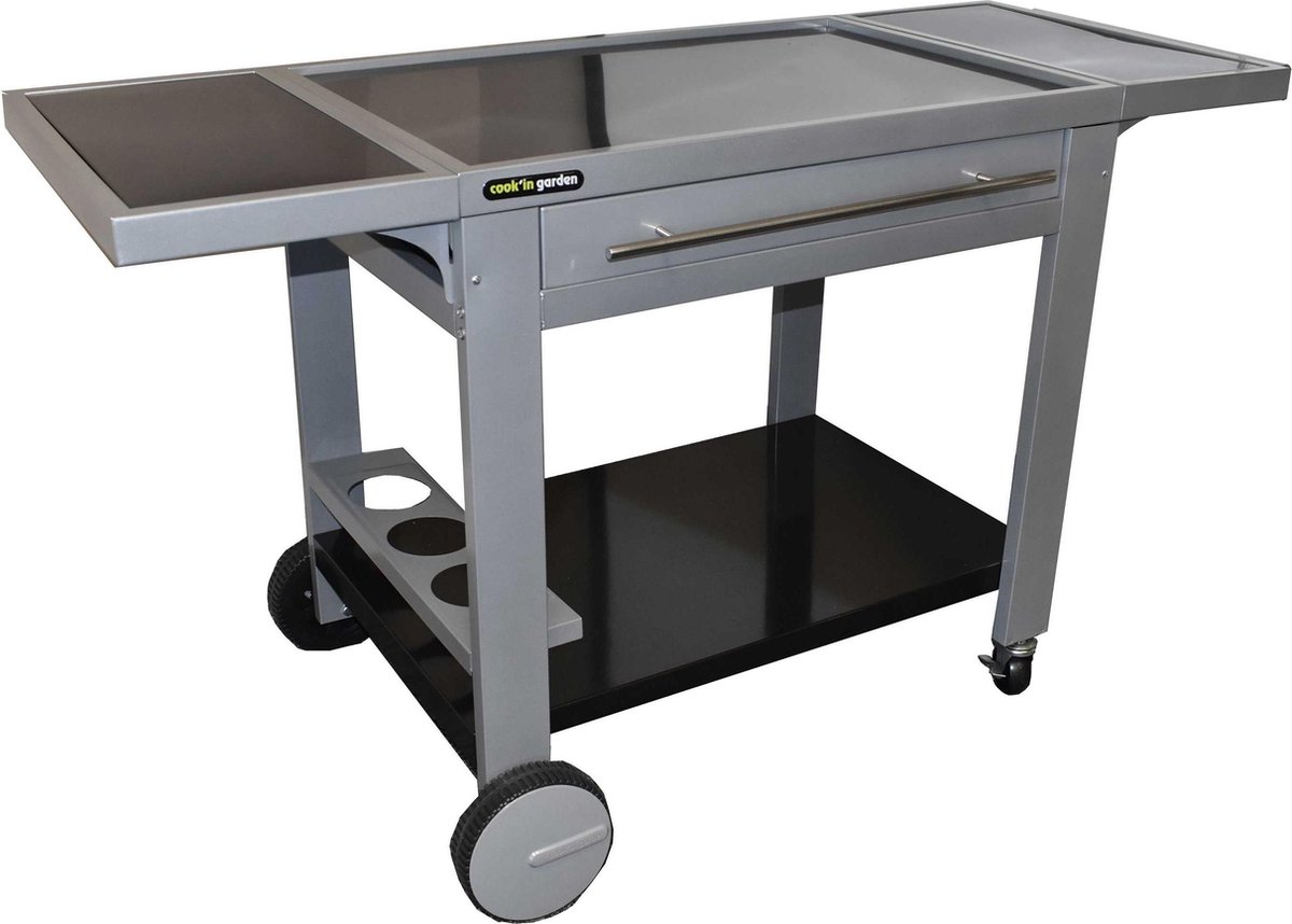 Buitenkeuken - BBQ Tafel - Barbecue Tafel - Mobiele werktafel - 65x147xh80cm