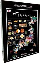 Puzzel van Japan   1000 stukjes   68x48 cm   Familiepuzzel   Jigsaw   Legpuzzel   Maison Maps