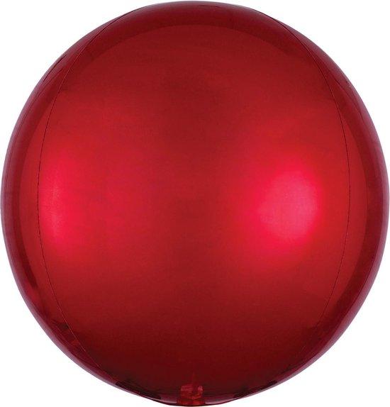 Orbz mat rood folie ballon.