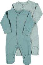 Zeeman new born pyjama - biologisch katoen - blauw  - maat 62 - 2 stuks