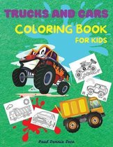 Trucks and cars coloring book for kids