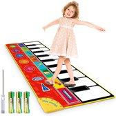FlexToys® Pianomat Kinderen XL - Speelmat 148x60 cm Antislip, Opvouwbaar en Draagbaar - 8 Instrumenten, Playback, Demo en Opname Functies