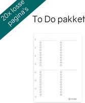 Greenstory GreenBook - losse uitwisbare pagina's A5 - set To Do lists - 20 pagina's (10 vellen)