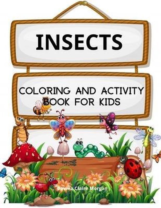 Insects Coloring and Activity Book for Kids