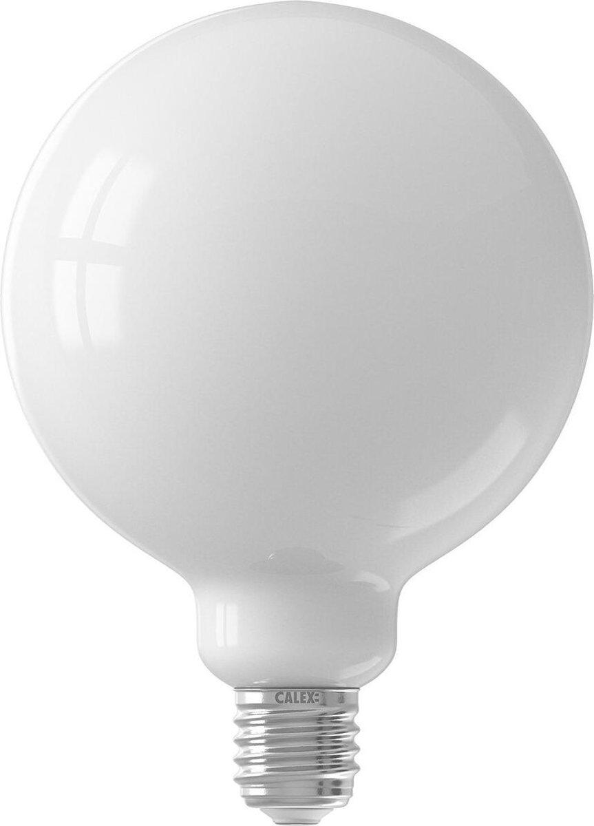 CALEX - LED Lamp - Globe - Smart LED G125 - E27 Fitting - Dimbaar - 7W - Aanpasbare Kleur CCT - Mat Wit