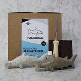 SamStone Doe het zelf pakket speksteen hamerhaai maken