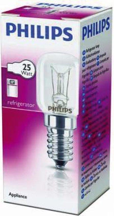 Koelkast: Philips T25 25W E14 K1P Koelkastlampje, van het merk Philips