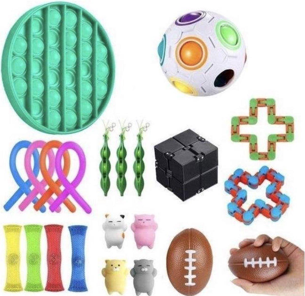 Fidget toys pakket - 20 stuks - Merkloos