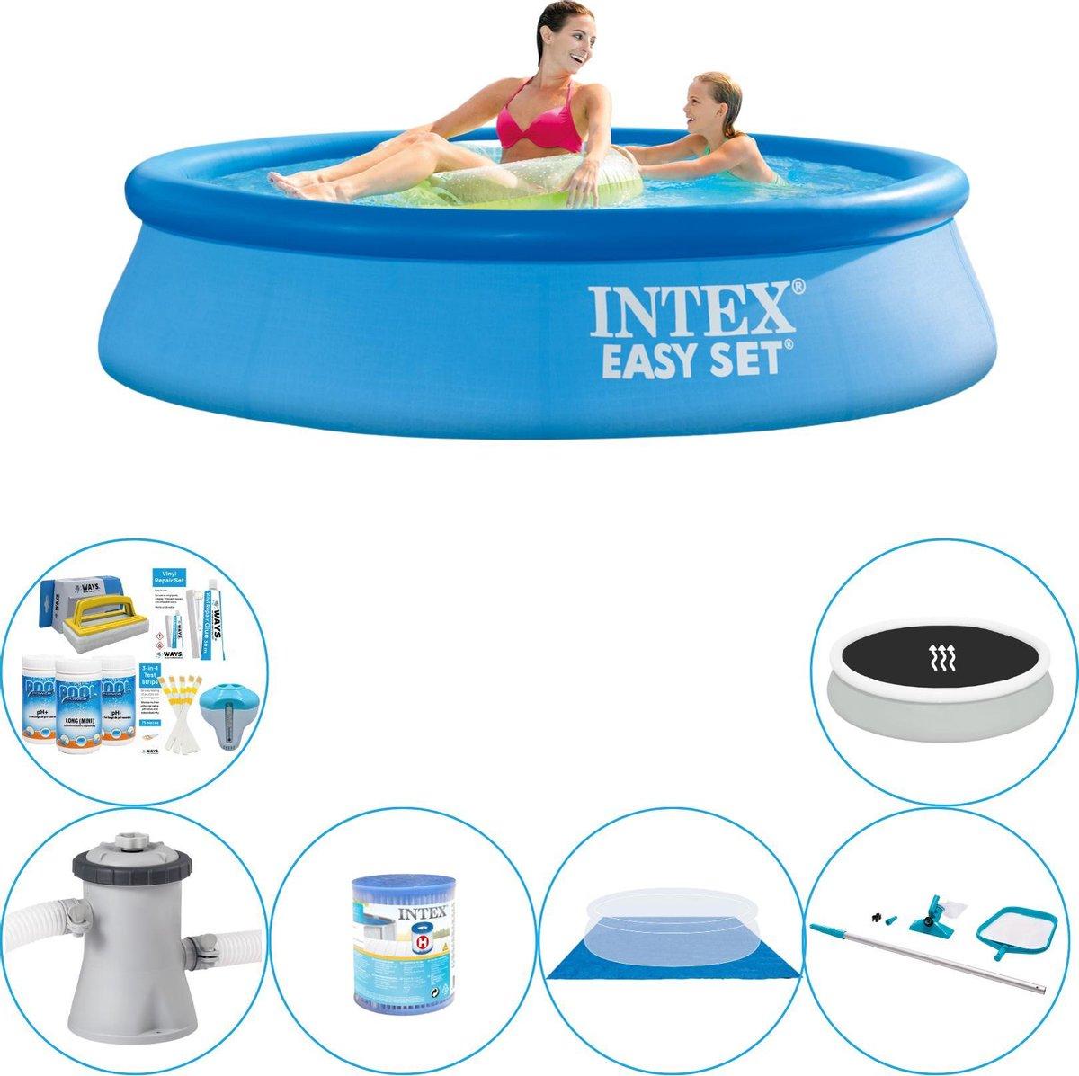 Intex Easy Set Rond 244x61 cm - Zwembad Combinatie Deal